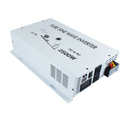 Home Improvement Collection Here 2500w Pure Sine Wave Power Inverter Convert 12v/24v To 120v/240v Remote Control