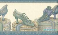 Vintage Victorian Ladies Shoes On Hatboxes Wallpaper Border 7 Free Shipping