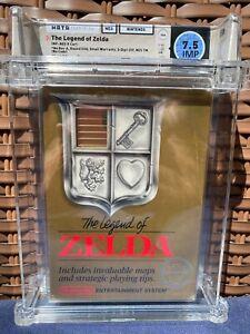 1987 The Legend of Zelda - Nintendo NES-CIB- First Print TM - RARE WATA 7.5 IMP