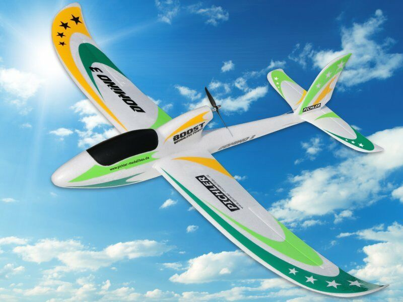 Pichler Avion Rc Domino 3 Pnp Pnp Pnp Vert Envergure 1420mm Prêt à Voler Moteur Servo fe2015
