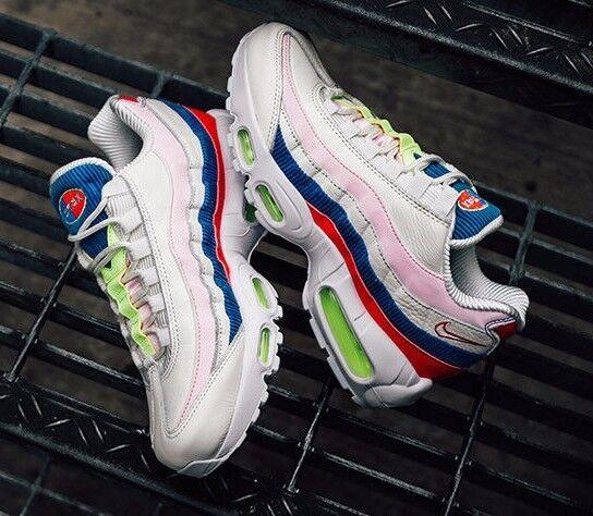 Nike Air Max 95 SE Panache Womens Sz 7.5 7.5 7.5 AQ4138-101 Sail Pink bluee Red shoes 26cd06