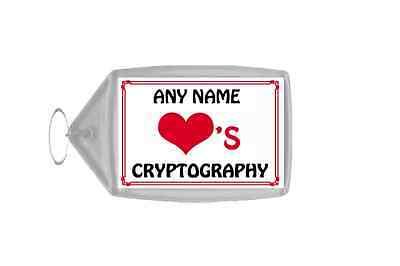 Amore Cuore Cryptography Portachiavi Personalizzato-