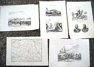 1836 NAPOLEON IN FRANCE ENGRAVINGS PORTRAITS, SCENES OF WAR, VIEWS BY TOWN'