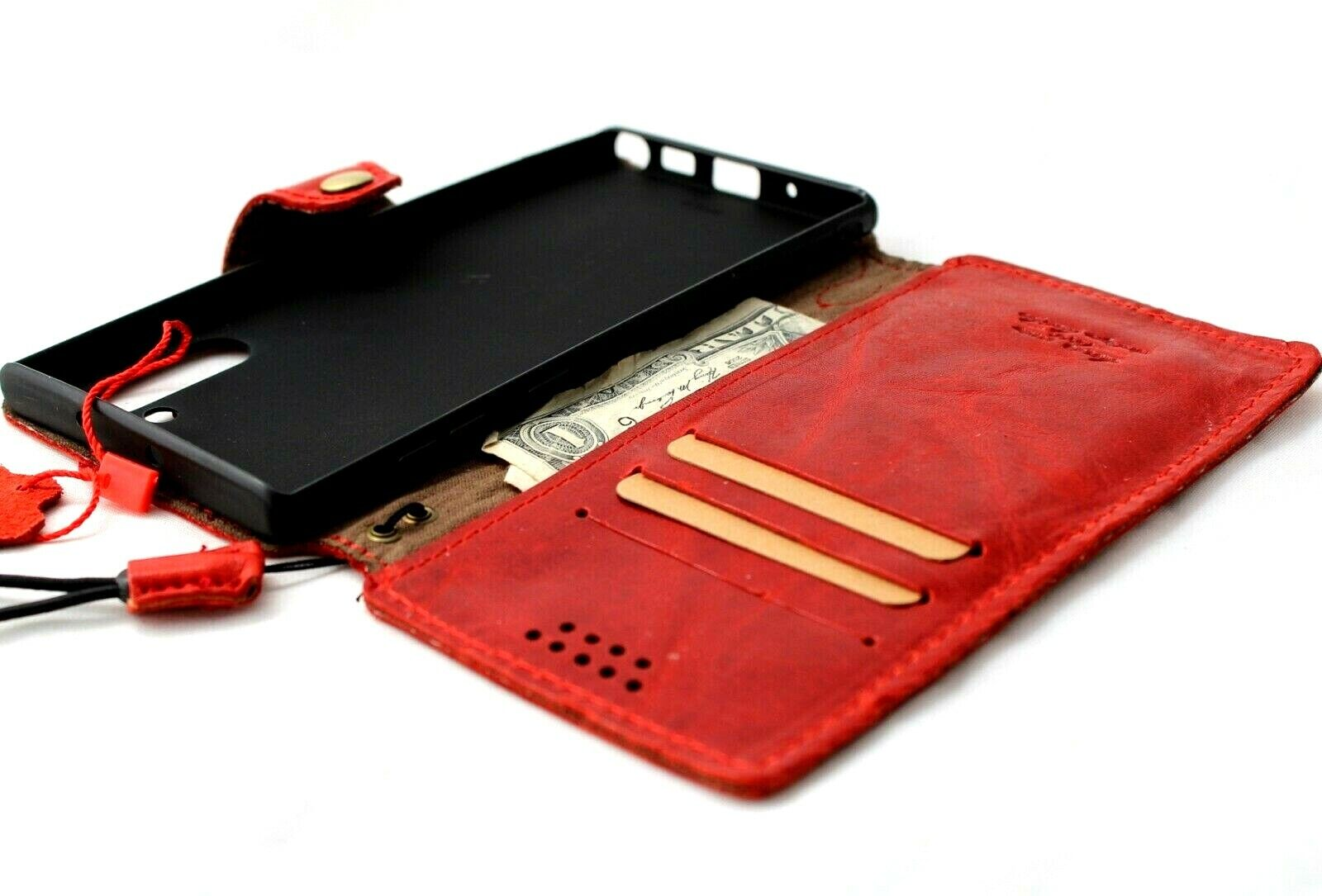 Image 21 - Genuine Soft Leather Case for Samsung Galaxy Note 10 wallet book holder closure
