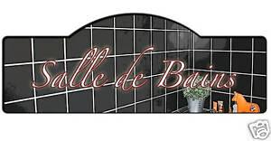 Details Sur Plaque Porte Salle De Bains Decoration Personnalisable