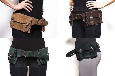 Hip Handmade Suede Waist Pack Bag Party Style Belt Utility Pouch psy rave new