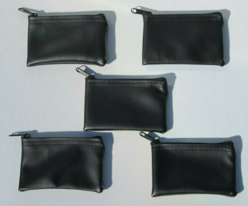 92 Black Mini Vinyl Coin Bags Change Purse Wallet Storage Bag Lot