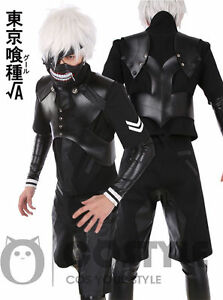 Tokyo Ghoul Ken Kaneki Suit Cosplay Costume Overall Jumpsuit Battle