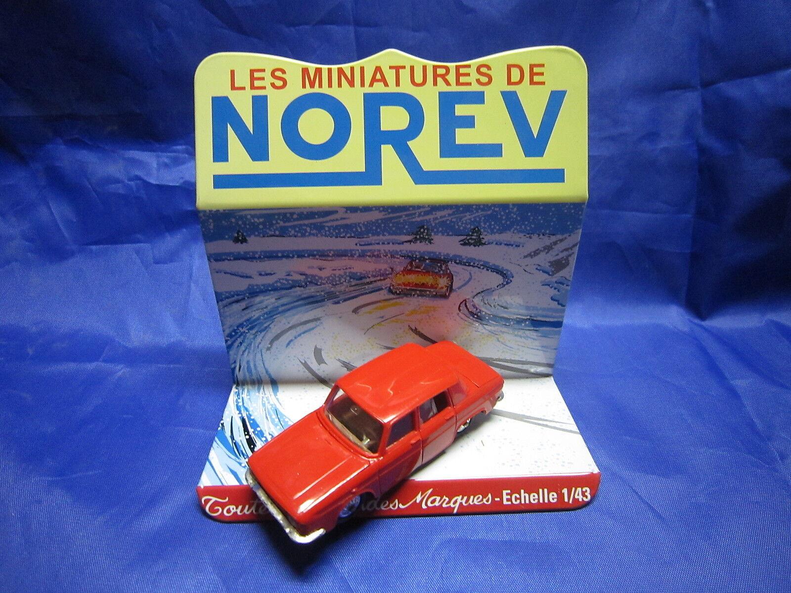 DV6264 NOREV RENAULT 10 R10  BERLINE PLASTIQUE ROUGE Ref 9 1 43 TBE