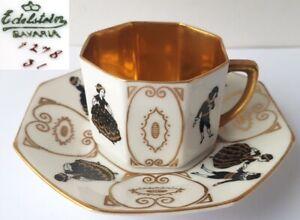 Mocha-Cup-Saucer-Gemstone-Bavaria-Um-1930-N533