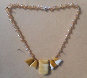 Mookaite-Jasper-5-large-Pendants-Rondelle-Crystal-Beads-19-034-long-Necklace
