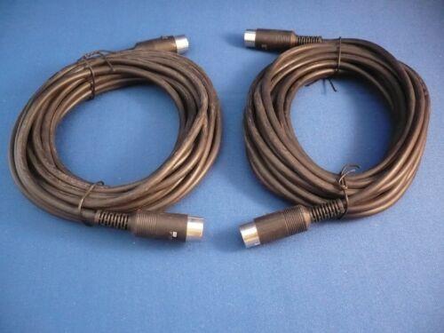 4 VIER !!! 2 x 2,0m Länge MIDI-Kabel 2 x 5,0m Farbe: schwarz # Neuware !!!