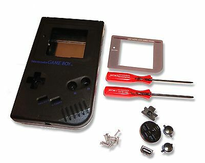 Gameboy Game Boy DMG-01 Original Console Black Shell Housing w Screen & Tools UK