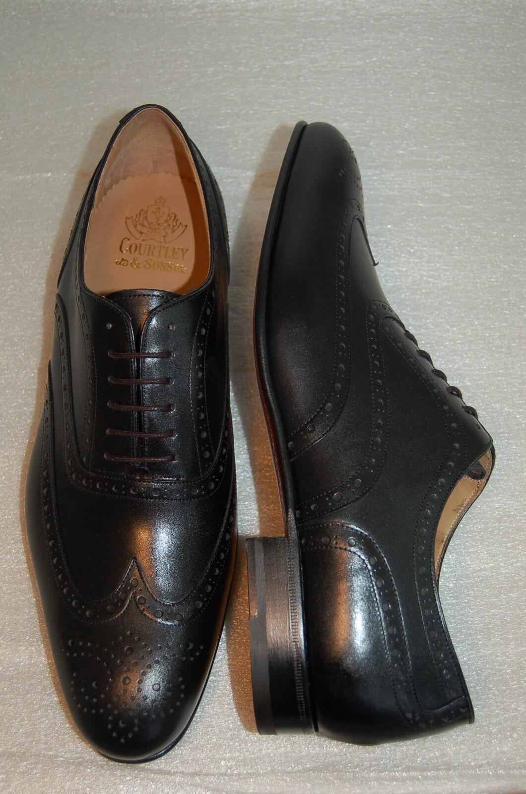 MAN - OXFORD WINGTIP - BLACK CALF CALF CALF W/PERFS AND MEDALLION - LEATHER SOLE - BLAKE 2618d4