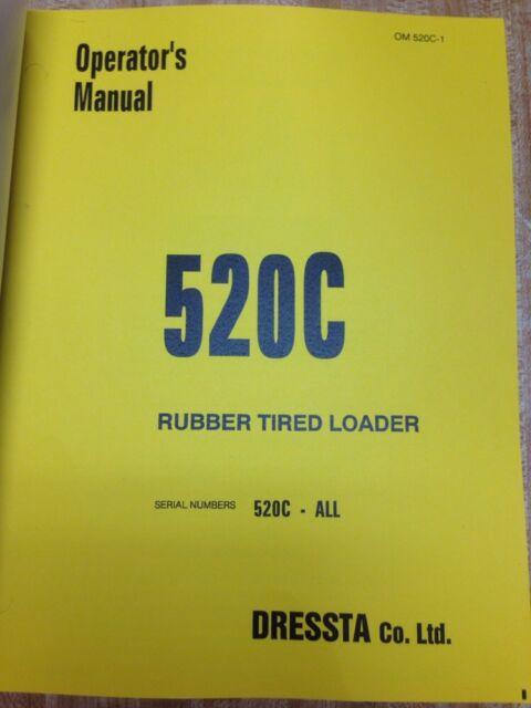 ih international dresser 520c wheel loader operators maintenance rh ebay com dresser 520 service manual Dresser 510B