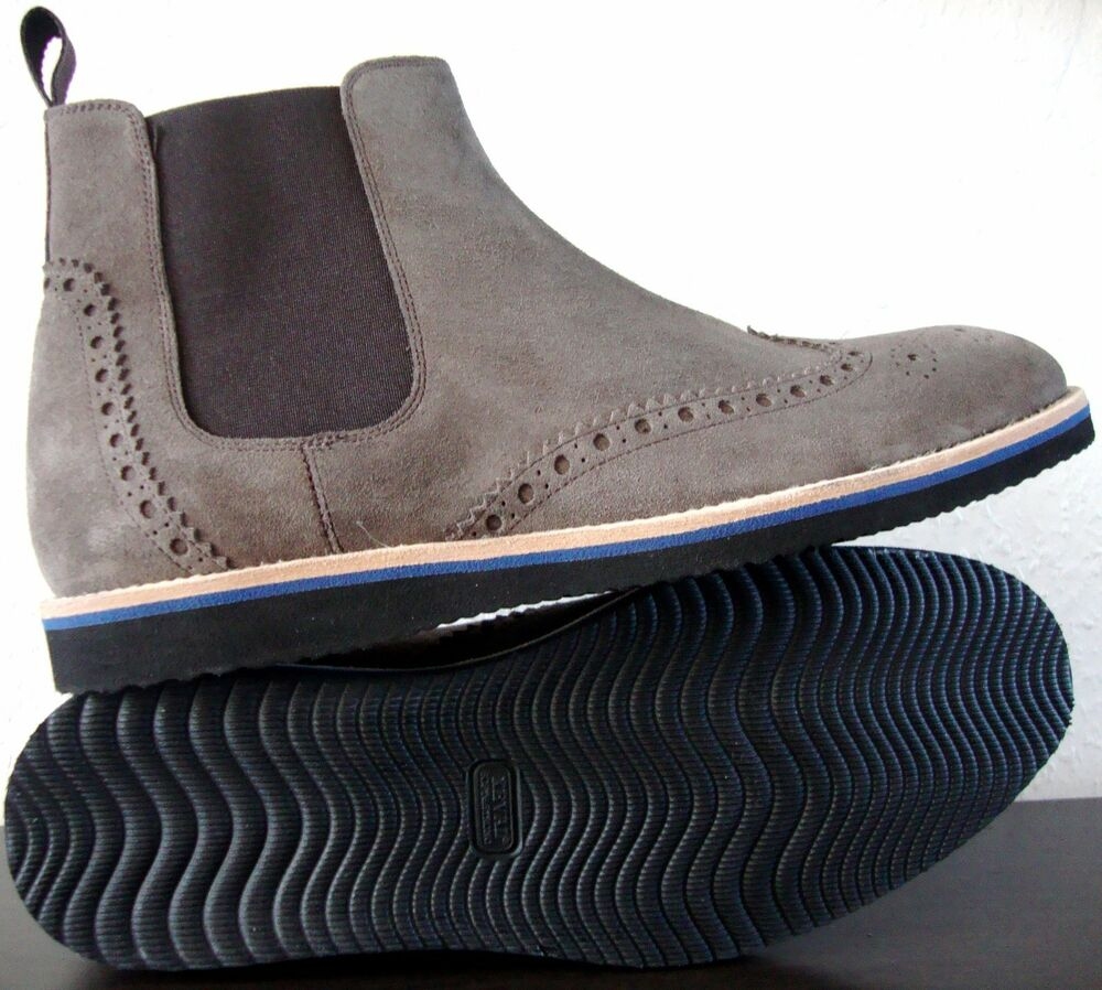 Joop! Messieurs Boots Bottine Bootie Chukka Chaussures Daim Gris Taille 40 Neuf