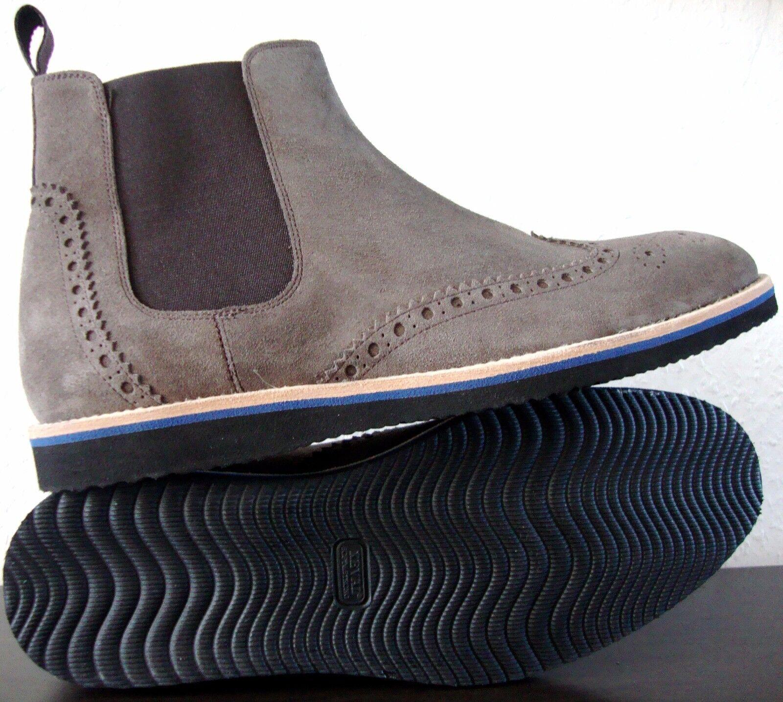 JOOP Bootie  Herren Boots Stiefelette Bootie JOOP Chukka Schuhe Wildleder Grau Gr.40 NEU f53b76