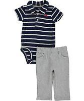 Carter's Infant Boys 2 Pc Short Sleeve Bodysuit & Pants Set NWT Newborn 3M or 6M