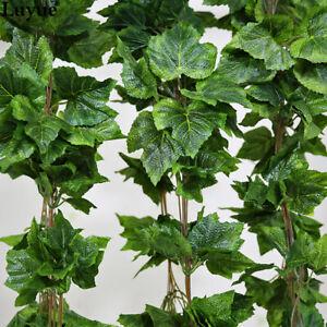 Details about Luyue Garden Decor 5PCS Silk Artificial Plant Vines Silk  Grape Leaves Garland\u2026