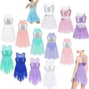 Girls-Ballet-Costume-Tutu-Leotard-Dance-Skating-Gymnastics-Dress-Ballerina-Skirt