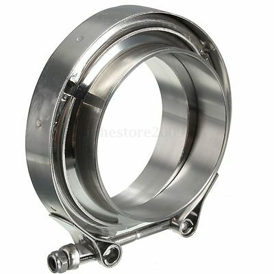 """Stainless Downpipe Intercooler Exhaust Turbo 3"""" Inch V-BAND CLAMP & FLANGE KIT"""