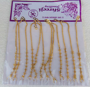 22k-Gold-Plated-Traditional-Earrings-Chain-South-Indian-Bridal-Jhumki-Chain-Lot
