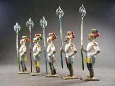 CBG moyen age chevaliers avec hallebardes (antique toys )