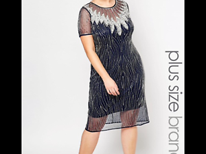 Lovedrobe sheer dress with embellished overlay pictures