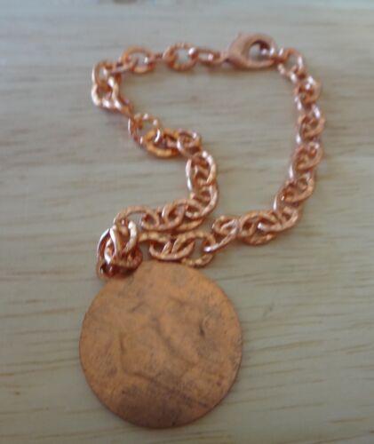 "8/"" cuivre 22 mm sertis Medical Alert charme sur Bracelet"
