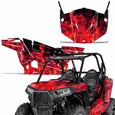 "POLARIS RZR1000XP RZR900S 2014-2015 HOOD GRAPHICS WRAP KIT /""THE OUTLAW/"" RED"