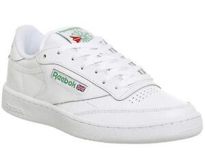 ab70048fedf32c Image is loading Reebok-Club-C-85-White-Green-Trainers-Shoes
