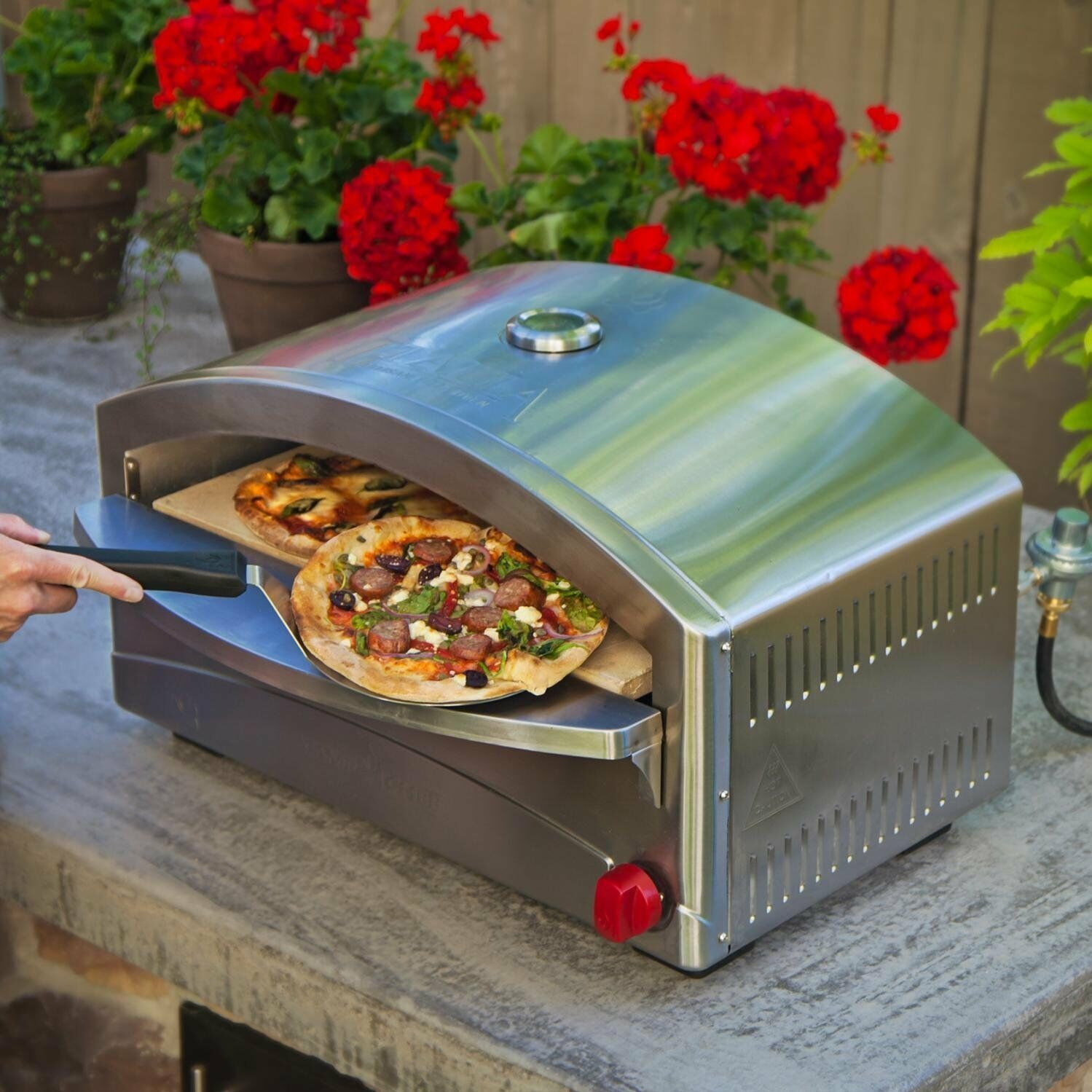 Portable Artisan Style Pizza Oven Outdoor Cooking Burner 17K BTU Propane Patio