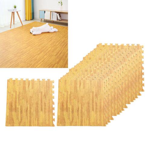 16 pezzi Ad Incastro Pavimento Tappeto di Schiuma EVA Piastrelle di Legno Del