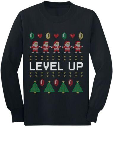 Santa Video Game Ugly Christmas Sweater Arcade Toddler//Kids Long sleeve T-Shirt