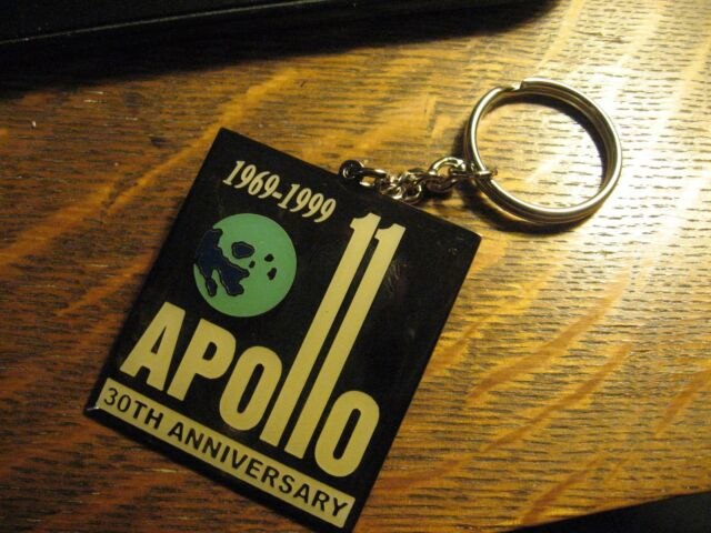 1999 Apollo 11 Keychain - NASA Rocket USA Space Program 30th Anniversary KeyRing