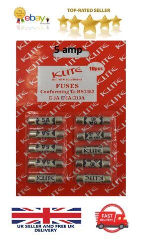 CARTUCCIA per fusibili assortiti Set 3//5//13 Amp Fusibile interno casa spina klite