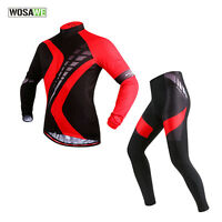 Cycling Clothing Set Bicycle Bike Long Sleeve Jersey+Long Pants Breathable Men