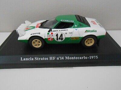 "TECA RIGIDA BOX2 SCALA 1//43 DIE CAST /""LANCIA STRATOS HF N°14 MONTECARLO 1975/"""