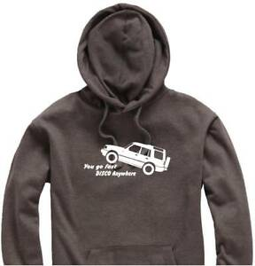 Unisex-Hoody-Hoodie-Land-Rover-Discovery-034-You-go-FAST-Disco-Anywhere-034-Logo