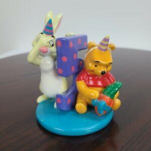 """Disney Winnie The Pooh 5th Birthday Age 5 Figurine Rabbit 4.5"""" Glazed Ceramic"""