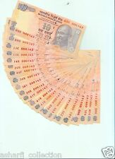 India Super Fancy  'I LOVE YOU' Number  {000143} 10 Rs. D Subbarao 1 UNC Note