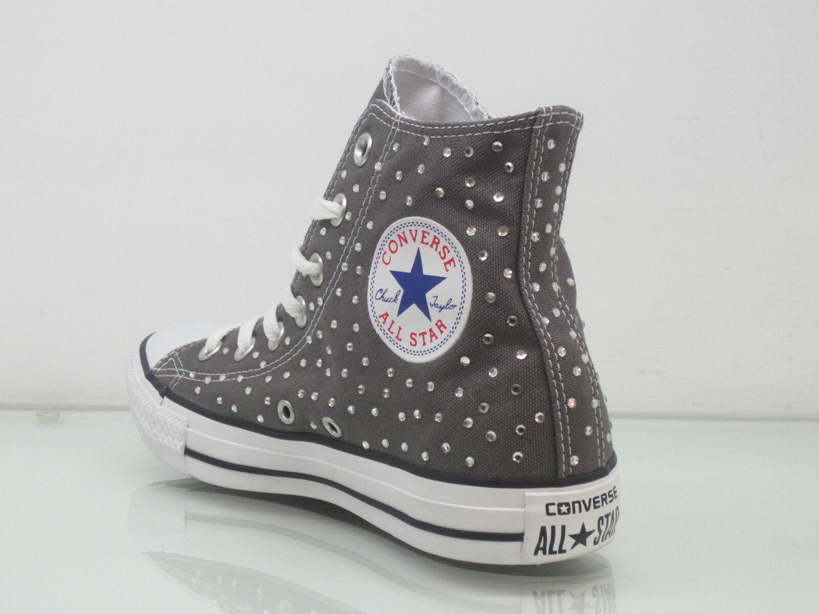 Converse all star Hi swarovski strass grigio artigianali