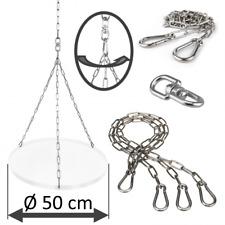 DAMASTOS Kettensatz für Ø50cm Grillrost aus Edelstahl V4A für Schwenkgrill