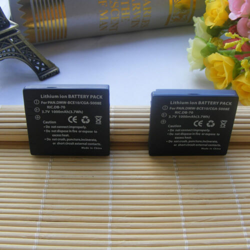 2Pcs Battery for Panasonic DMW-BCE10E Battery Fit DMW-BCE10PP CGA-S008 VW-VBJ10