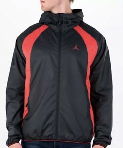 64c56e315435 Nike Jordan Mens Wings Windbreaker Jacket Black 897884-015 Red sz XL ...