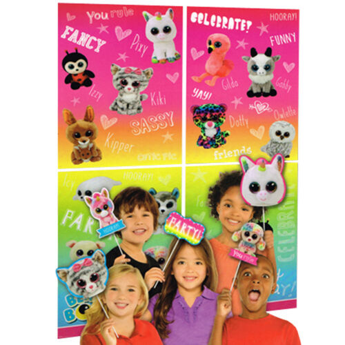 BEANIE BOOS WALL DECORATING KIT w// PROPS 16pc ~ Birthday Party Supplies
