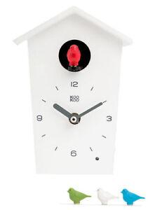 Details About Kookoo Birdhouse Mini New Original Packaging White Modern Design Cuckoo Clock