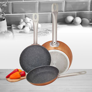 Set-of-3-Induction-Hob-Non-Stick-Aluminium-Copper-Marble-Coated-Fry-Pan-Cook-Set