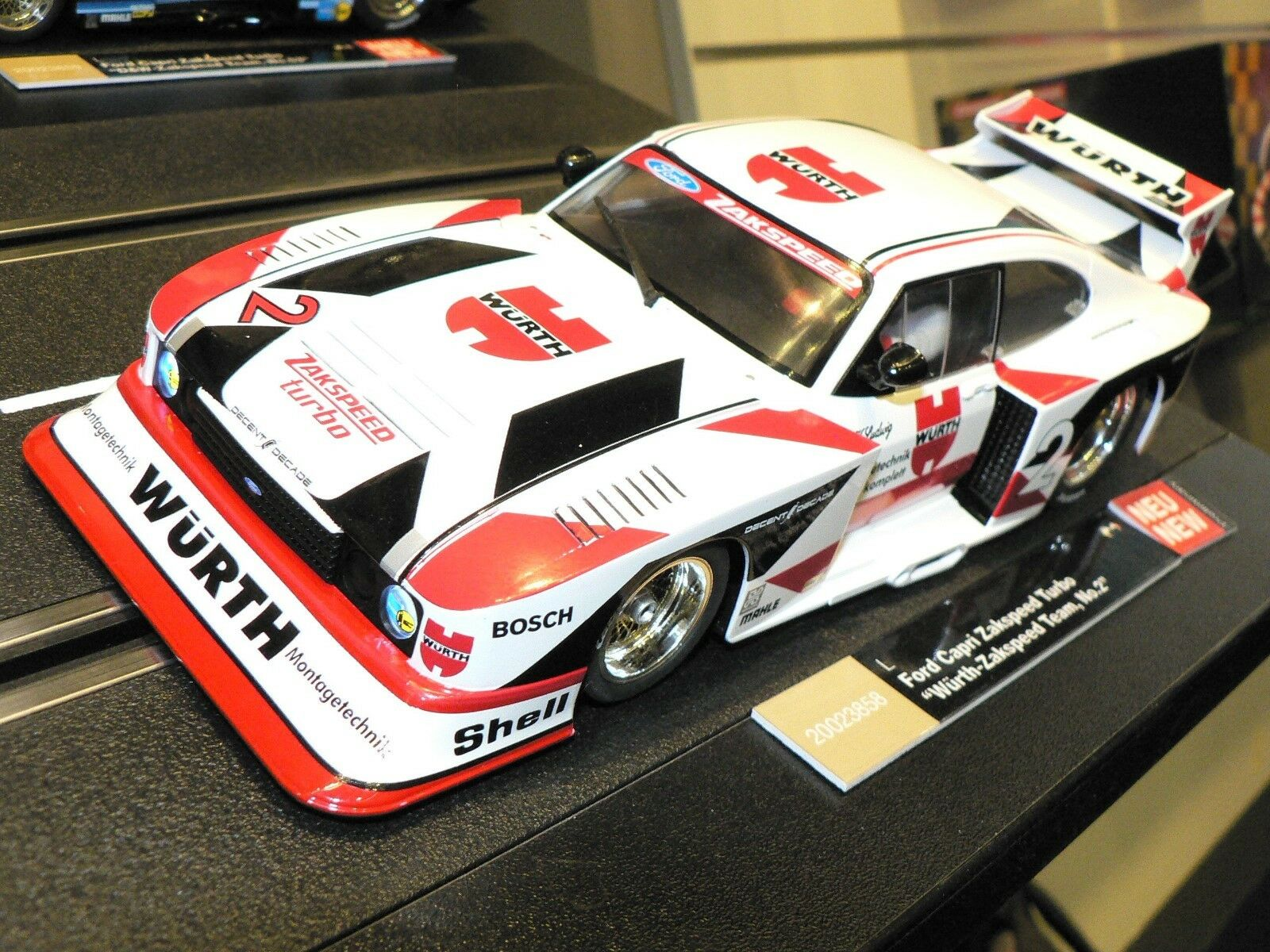 Carrera Digital124 23858 Ford Capri Zakspeed Turbo Würth Team No. 2 Nuovo +