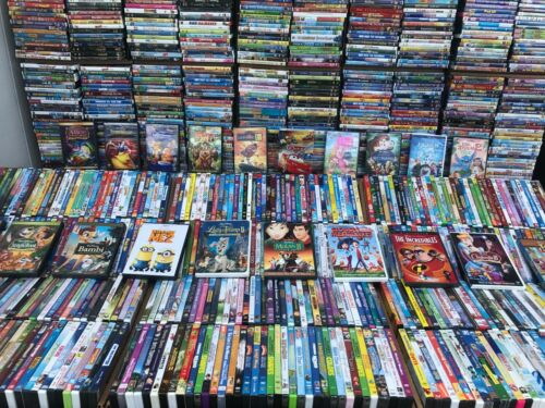 Wholesale Lot Of 100 Assorted Kids,Cartoons,Family DVDs,DVDs Movies,T.V Shows